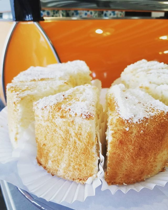 MEV's Angel Food Cake is selling out quick grab a piece before its all out! #Angel#jackjackscoffeehouse#Dessert#AngelFoodCake#Delicious