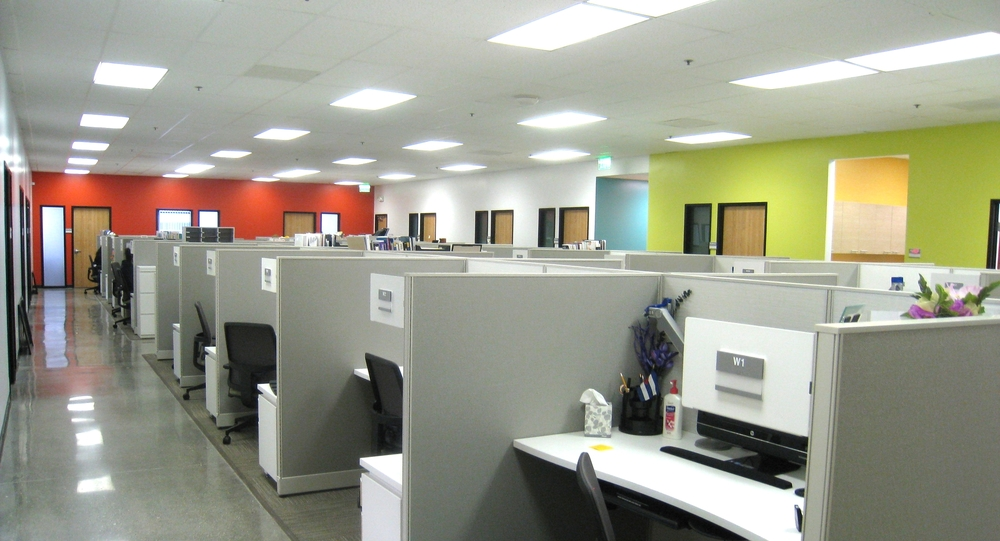 semi-private open office space