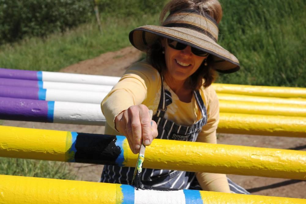 Annie Desmond painitng poles 4-19.jpg