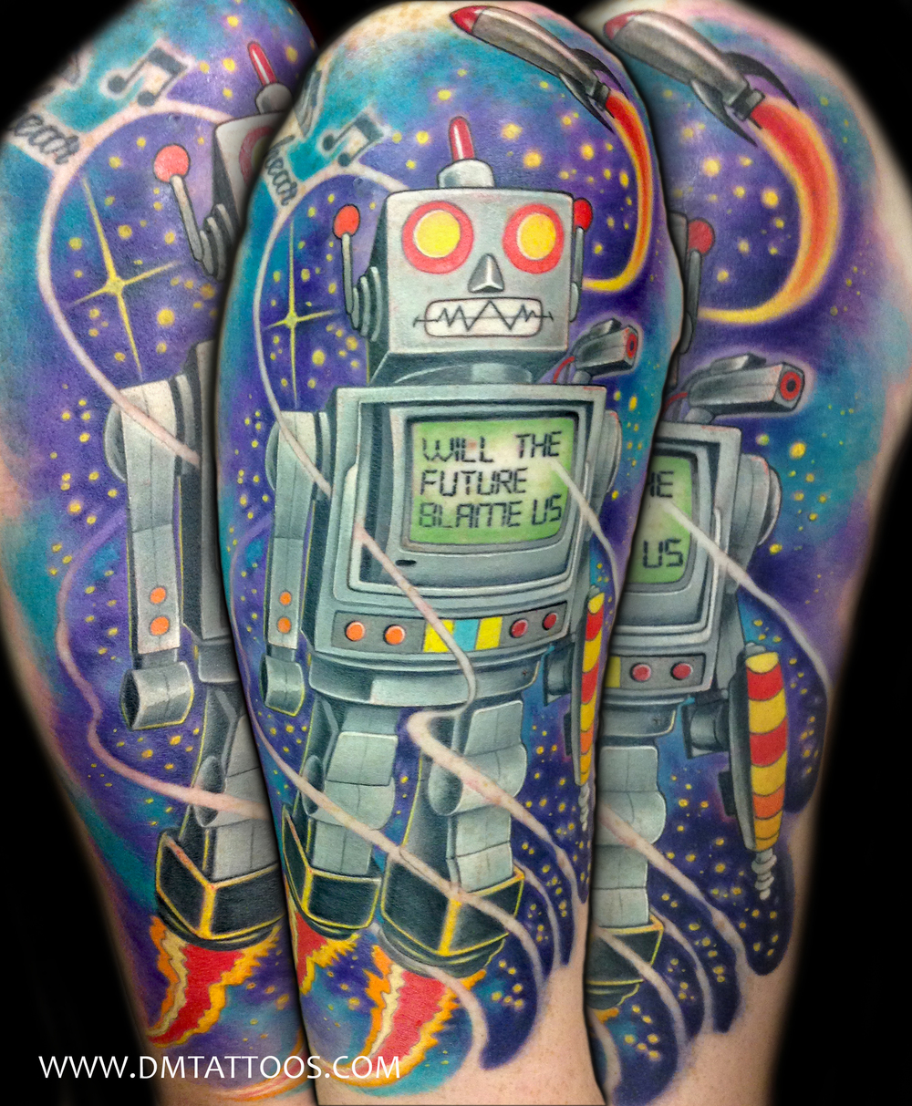 Robot Tattoo by David Mushaney