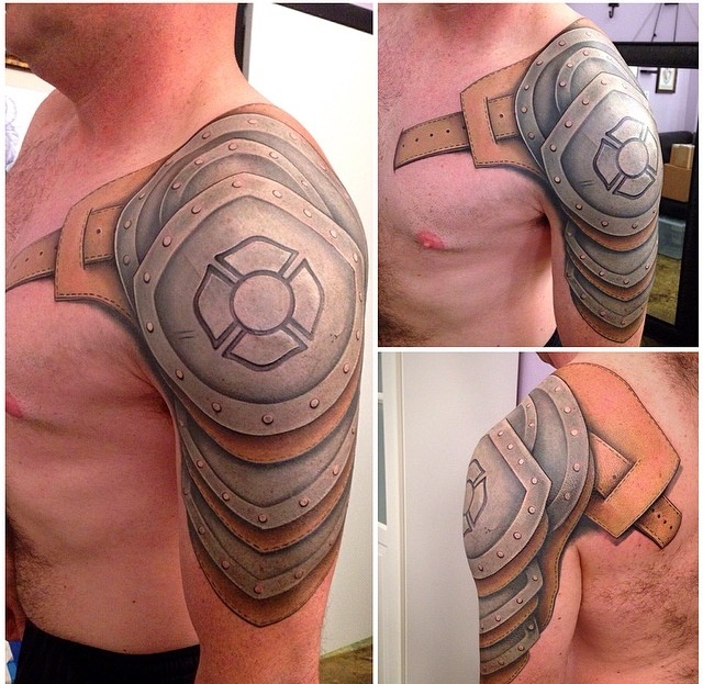 Body Armour Tattoo by David Mushaney