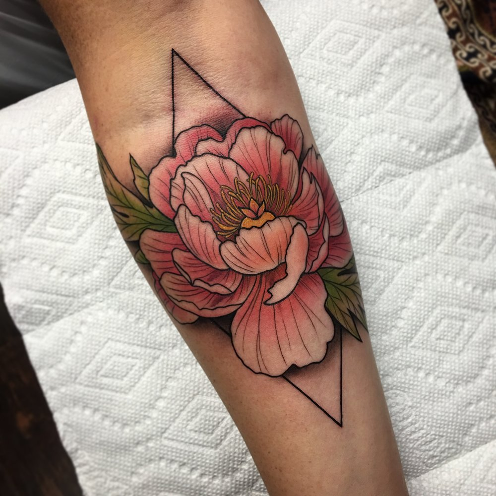 Floral Tattoo by David Mushaney