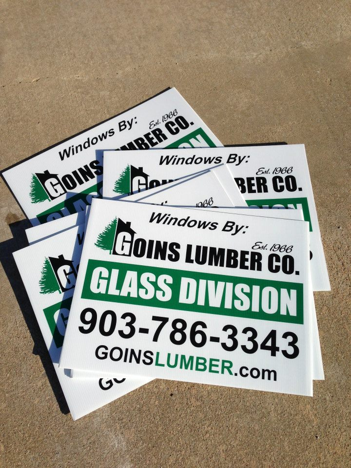 "18"" x 24"" 2-color, Double Sided, Corrugated Plastic Yard Signs"