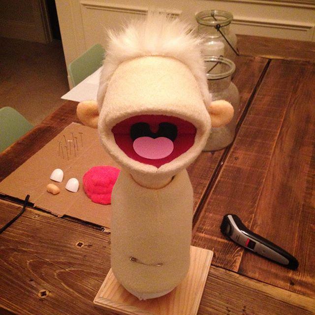 Puppet haircut.