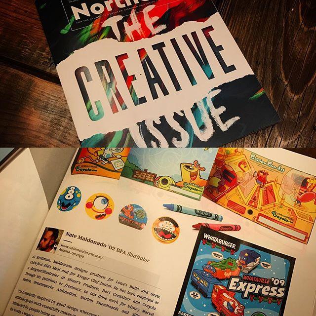 Very flattered to be included in the latest NMU Alumni magazine: The Creative Issue! #nmu #northernmichiganuniversity #nmumagazine