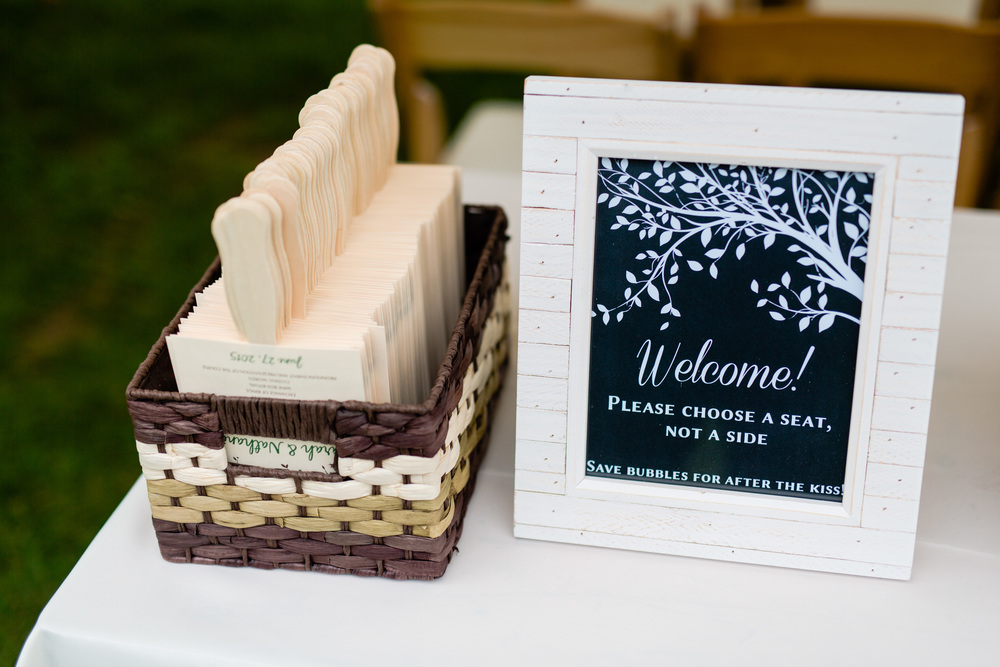 nate & sarah | ceremony signs   courtesy of: casey fatchett photography
