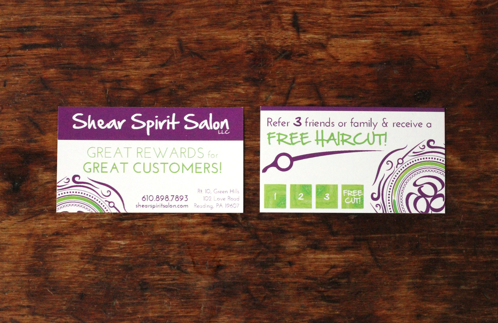 shear spirit salon | referral card