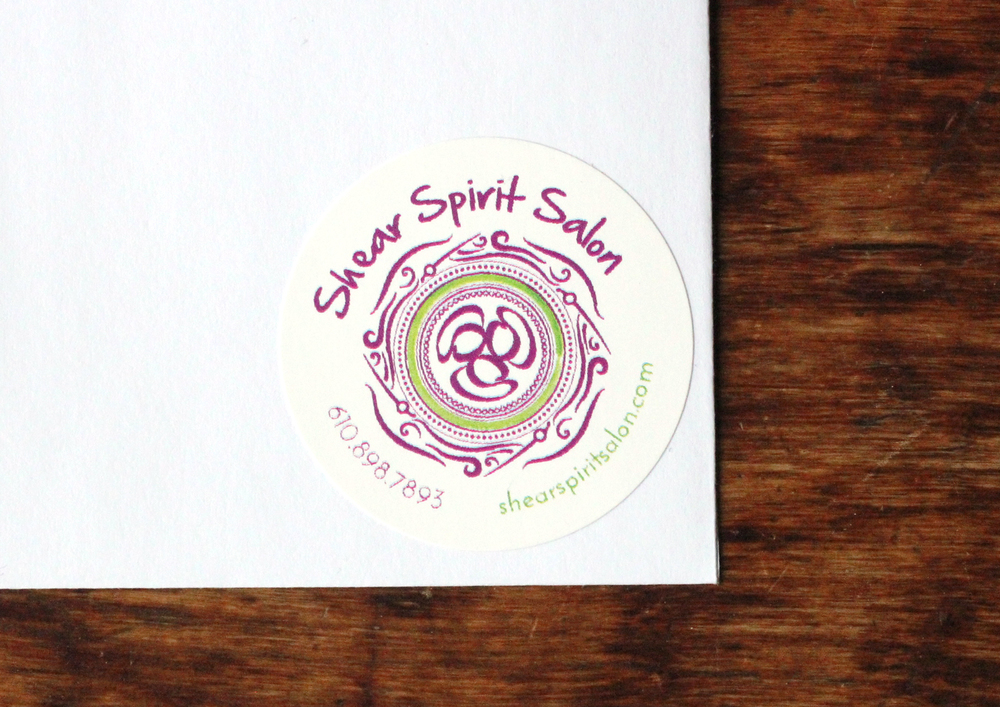 shear spirit salon | full logo & sticker
