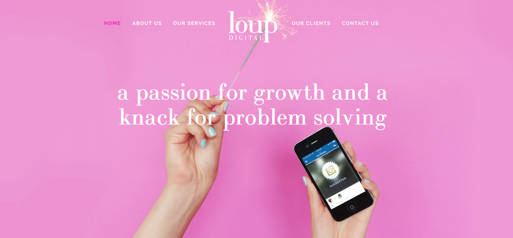 loup digital  |  website design   hosted by squarespace