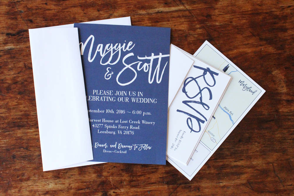 maggie & scott | envelope contents