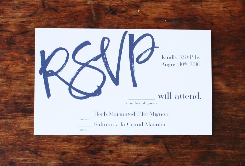maggie & scott | rsvp card