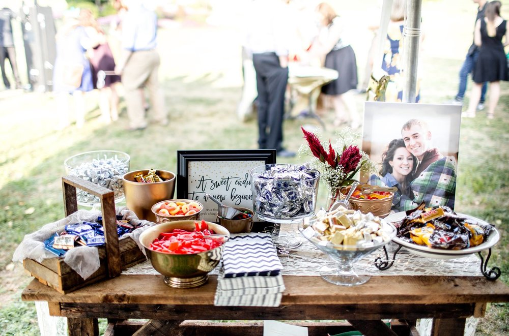 jen & carson | dessert table sign   photo credit: onethirtynine photography