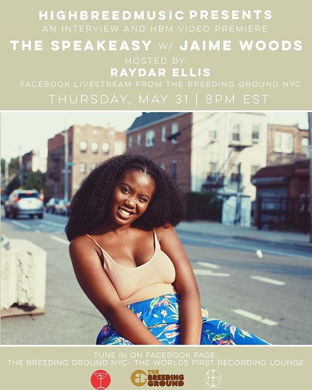 """Hey family!! I'm doing an interview with @raydarles this Thursday at 8pmEST as part of @highbreedmusic's new series @thespeakeasytvcast! HighBreedMusic is also debuting a live video they shot a lil while back of my song, """"Home"""". Tune into @highbreedmusic's Facebook page for a swell time! The link is in their IG bio! 💜"""
