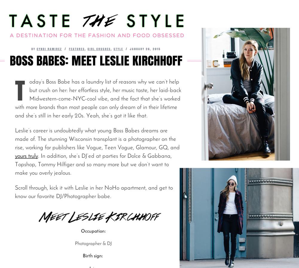http://tastethestyle.com/2015/01/boss-babes-meet-leslie-kirchhoff/