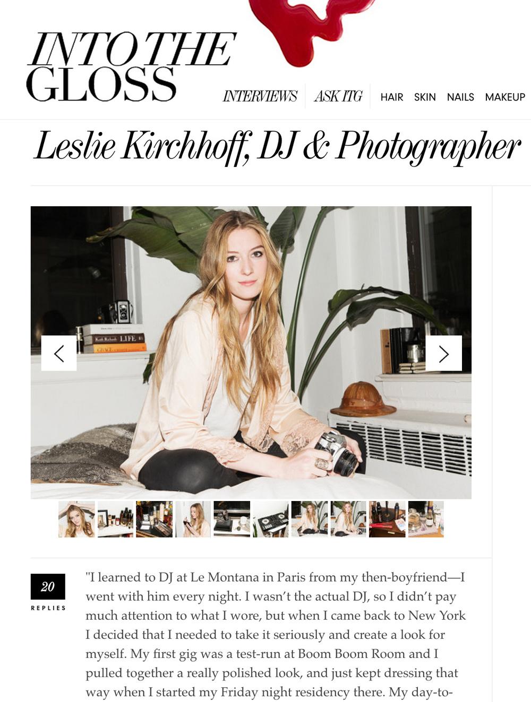 http://intothegloss.com/2014/11/leslie-kirchhoff-dj-photographer/