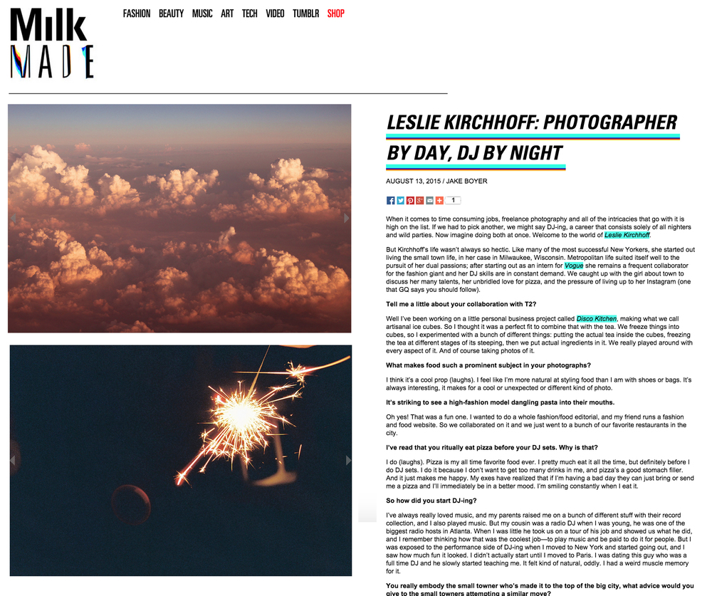 http://www.milkmade.com/articles/4270-Leslie-Kirchhoff-Photographer-by-Day-DJ-By-Night#.Vc4D9hNVikr