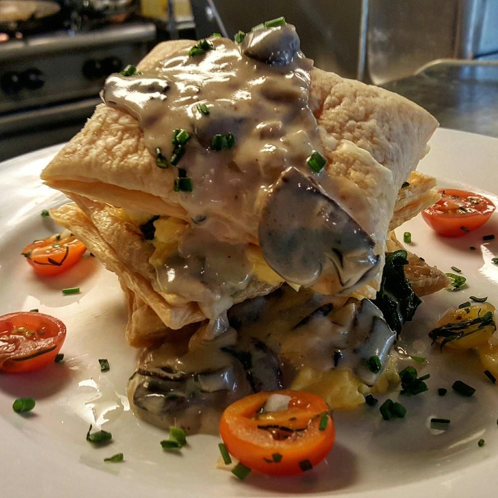 Egg, Crimini Mushroom & White Truffle Napoleon