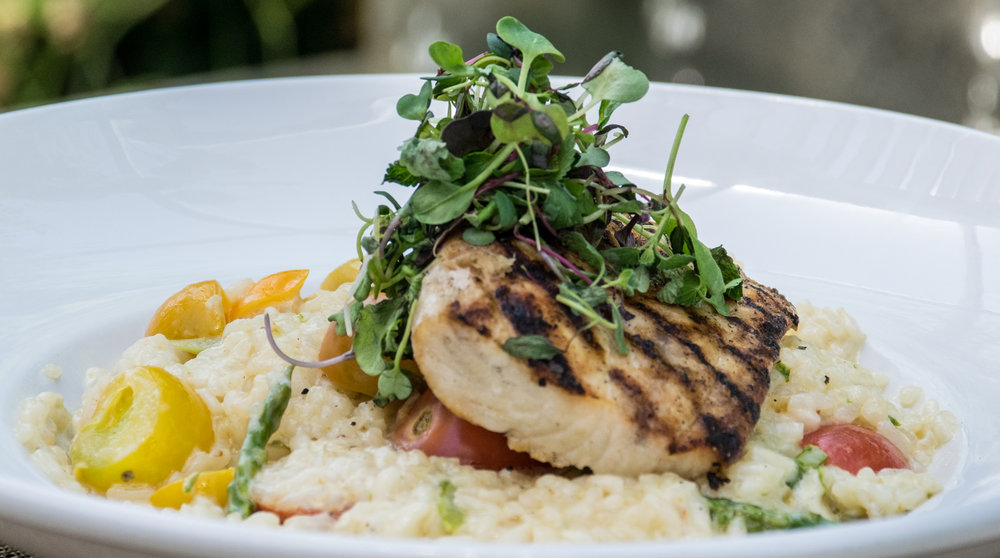 Toscano Grilled Mahi Risotto
