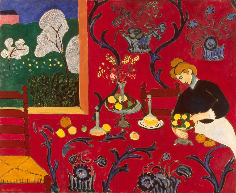 Henri Matisse. The Dessert: Harmony in Red  (The Red Room), 1908