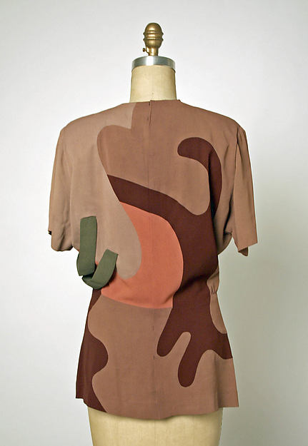 Gilbert Adrian. Evening ensemble (back view of bodice), 1945