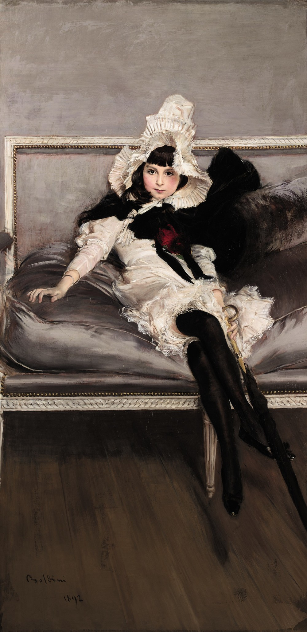 Giovanni Boldini.  Portrait of Giovinetta Errazuriz , 1892