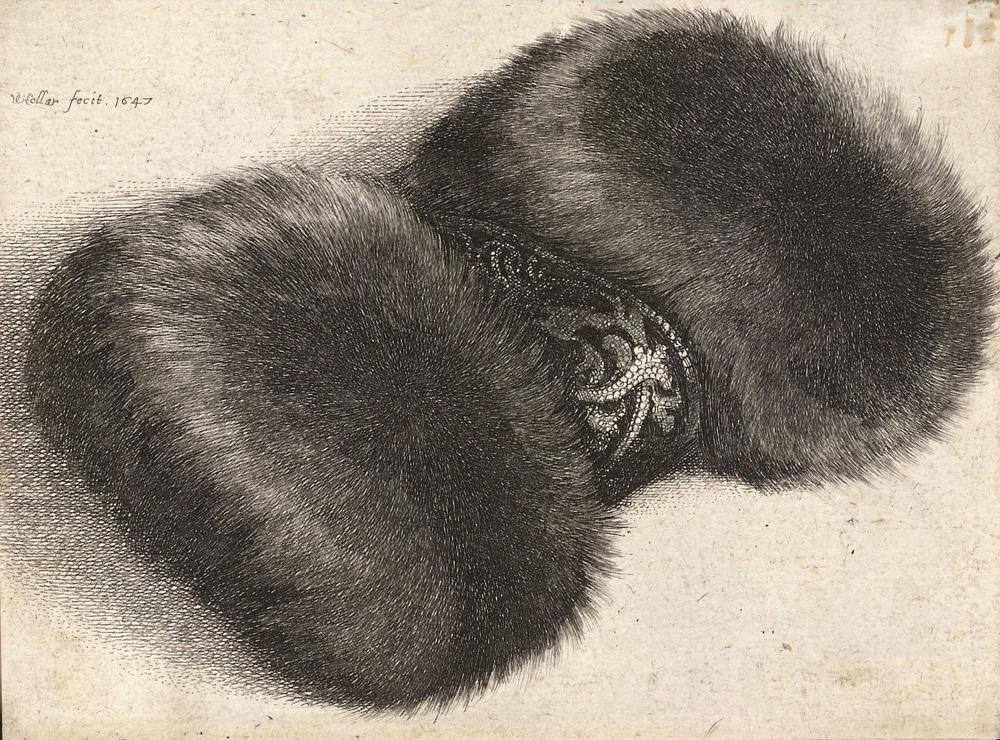 Wenceslaus Hollar.  Fur Muff with Brocade , c. 1647