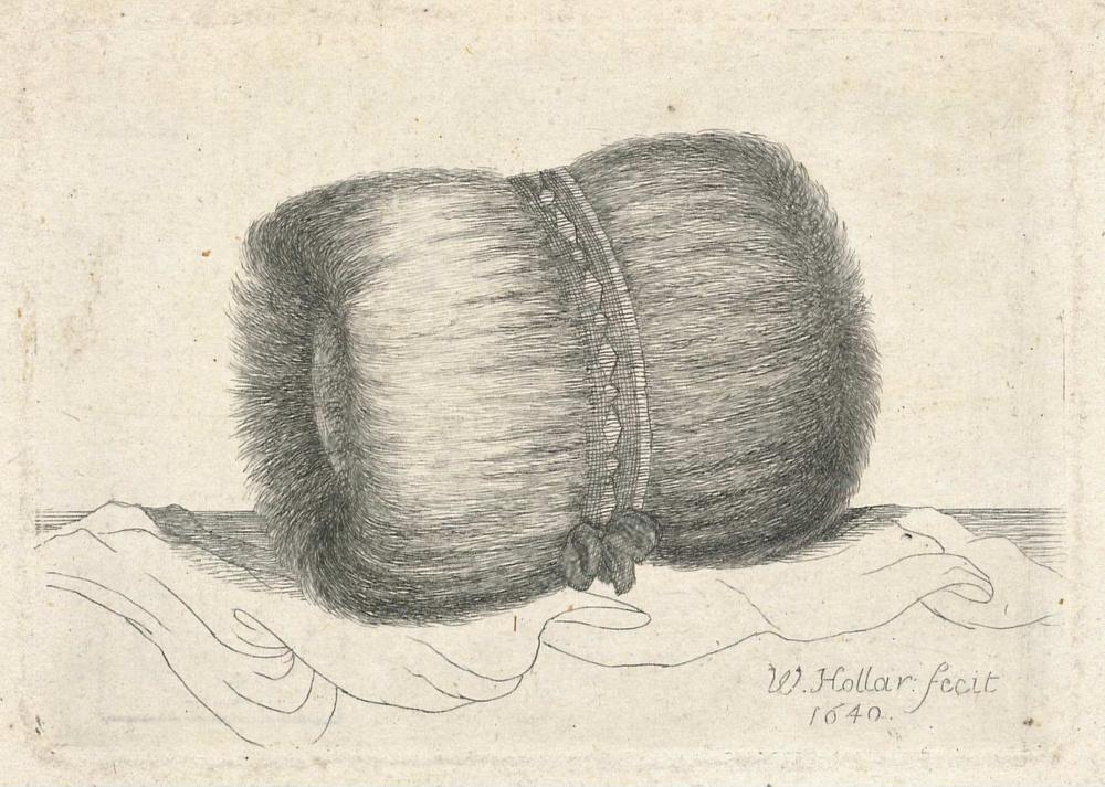 Wenceslaus Hollar.  A Fur Muff , c. 1640