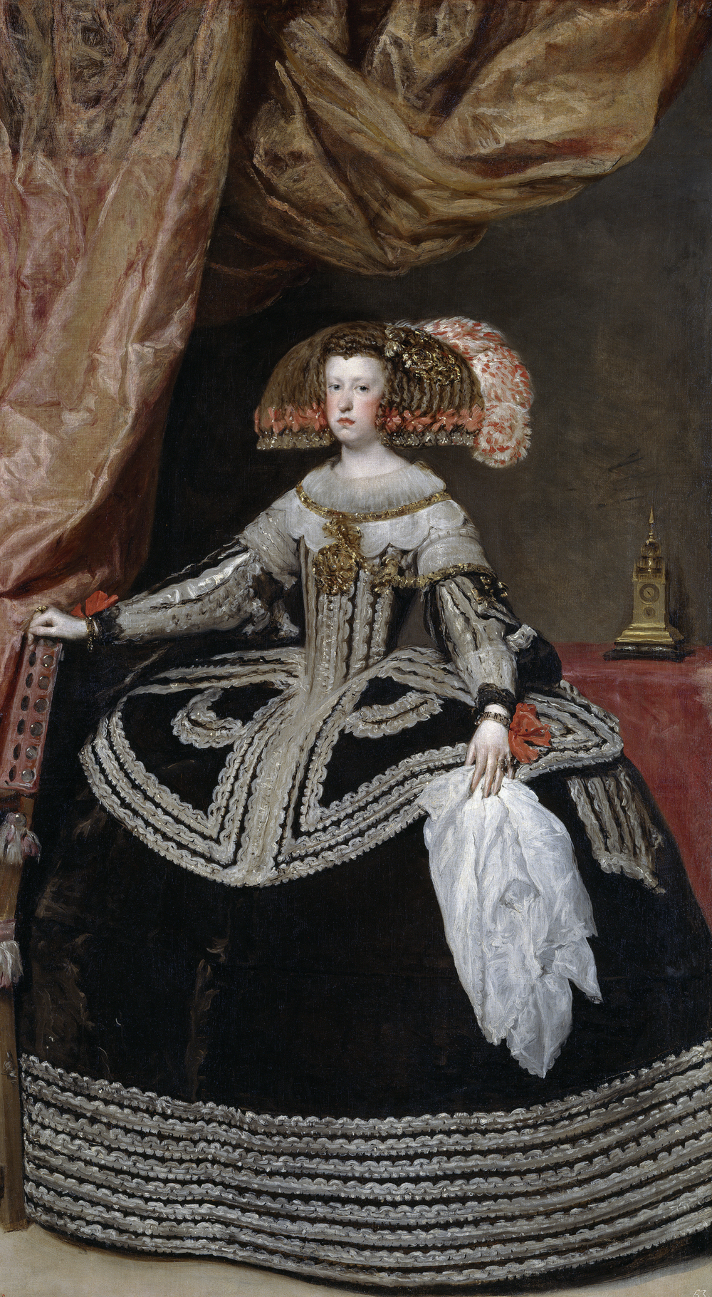 Diego Velázquez.  Mariana of Austria, Queen of Spain , c. 1652