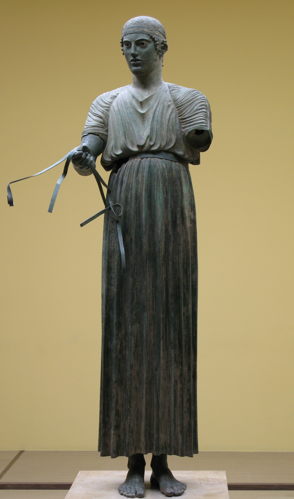 Charioteer of Delphi , 478 or 474 B.C.E.