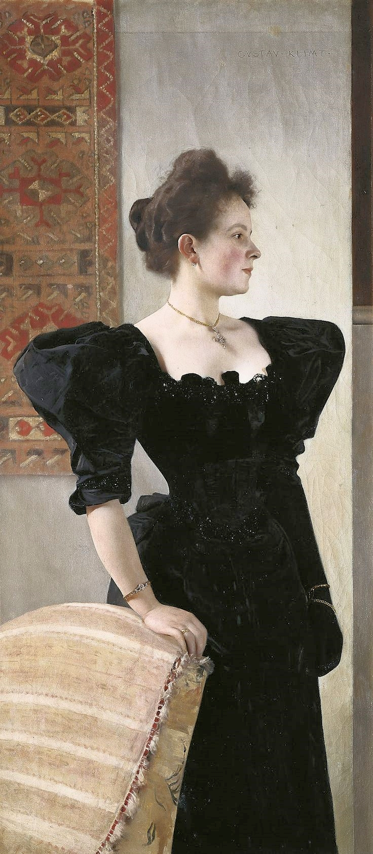 Gustav Klimt.  Portrait of Marie Breunig , 1894