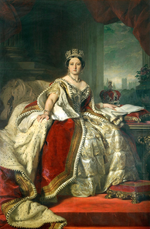 Franz Xaver Winterhalter.  Queen Victoria , 1859