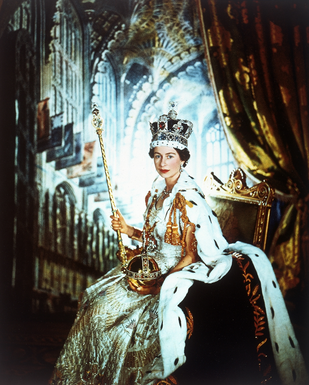 Cecil Beaton.  Coronation Portrait of HM Queen Elizabeth II , 1953