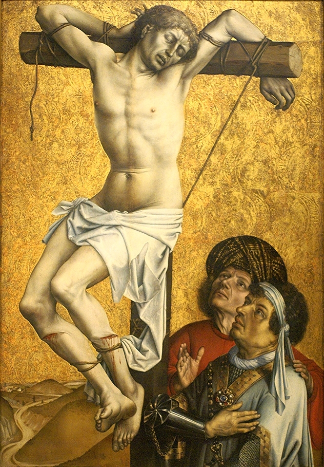 Robert Campin.  The Thief to the Left of Christ , c. 1430