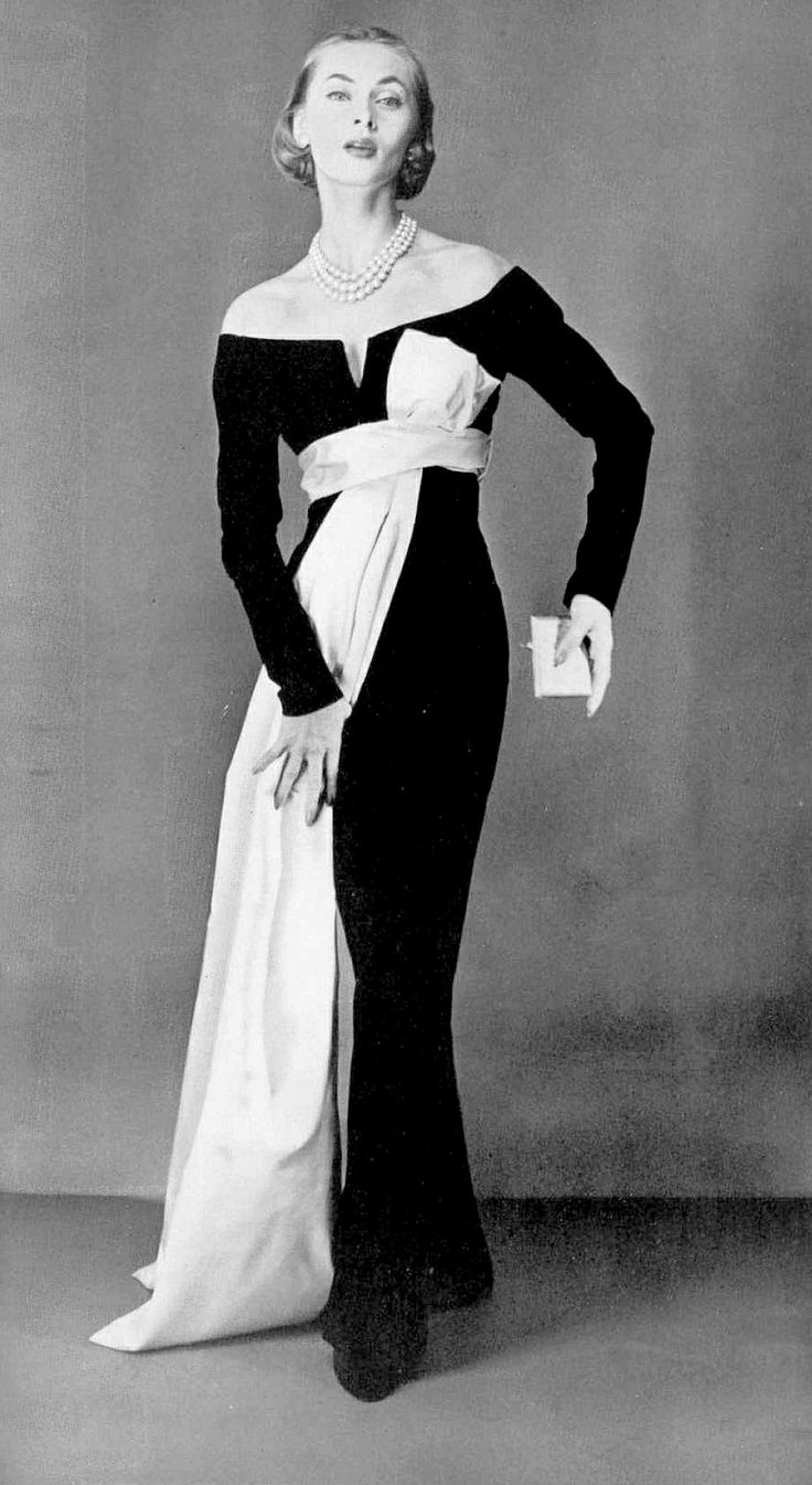 Yves Saint Laurent (for Christian Dior). Evening dress, 1955