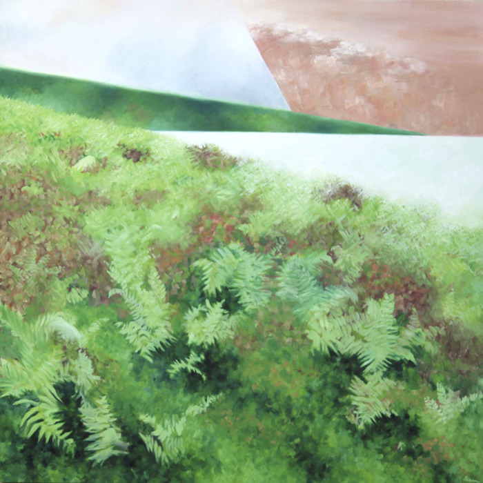 """high moor    oil on canvas l 48""""x48"""" l july 2009 l SOLD       (click image to return to gallery)"""