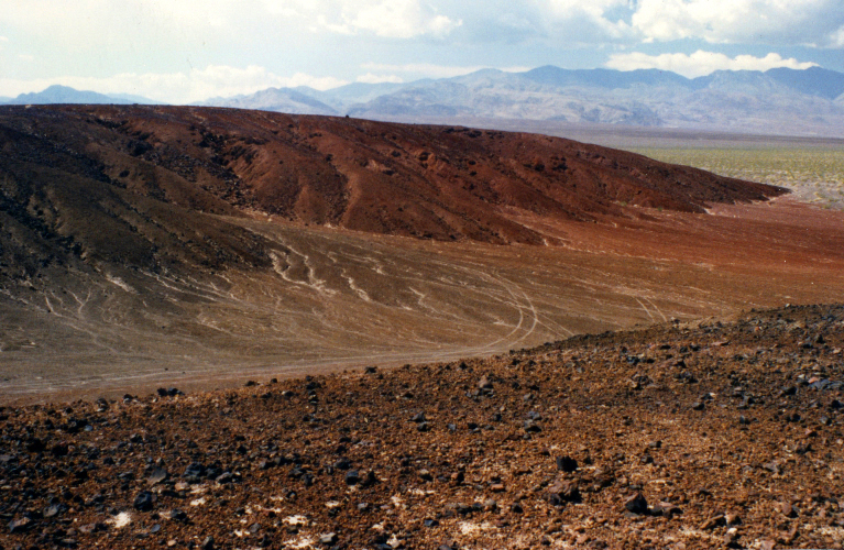 Eroded volcano, Death Valley (my photo)