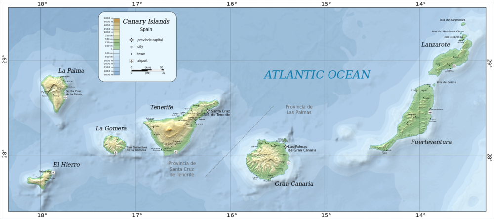 canary islands-map-atlantic