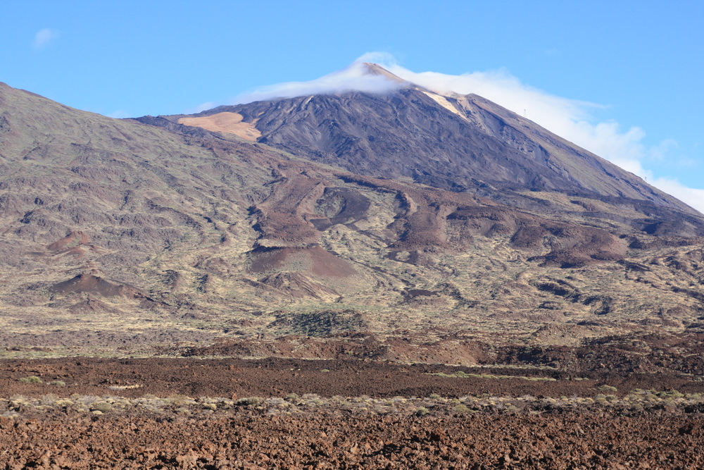 Volcan del Teide from the floor of the caldera (my photo)