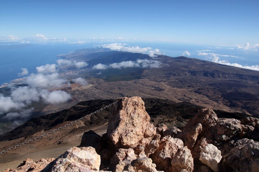 The eastern half of Tenerife from the summit (my photo)
