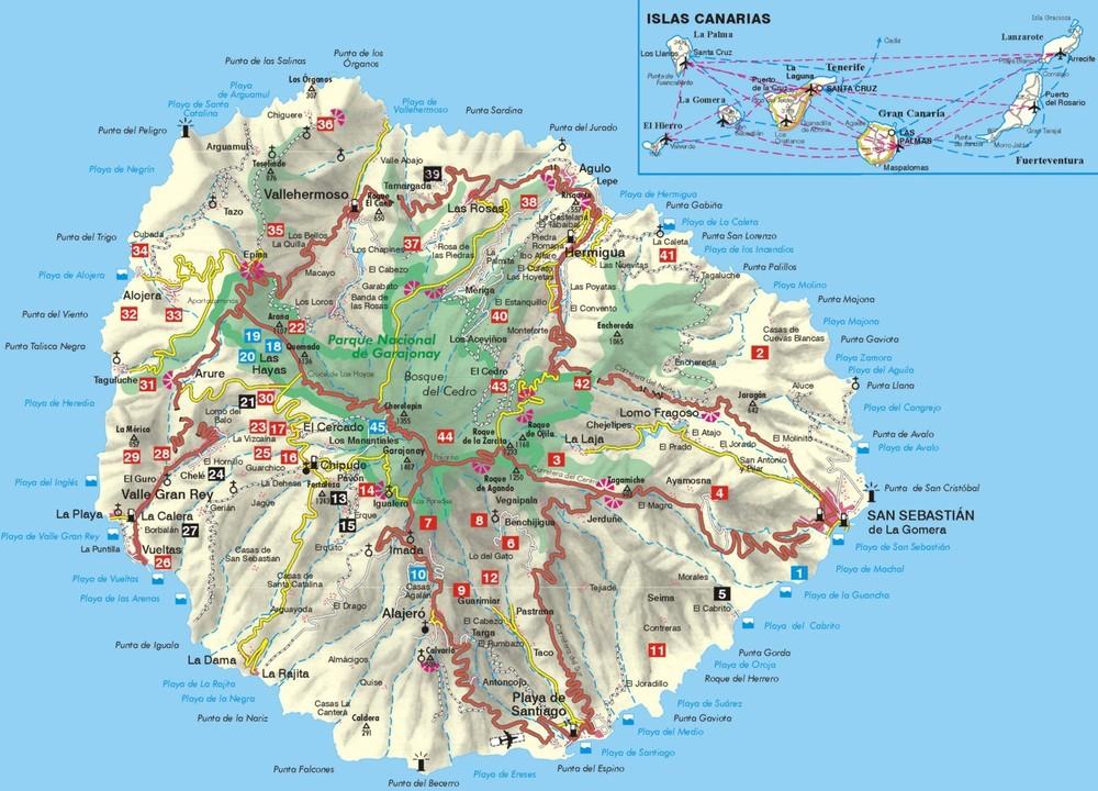 la gomera-map