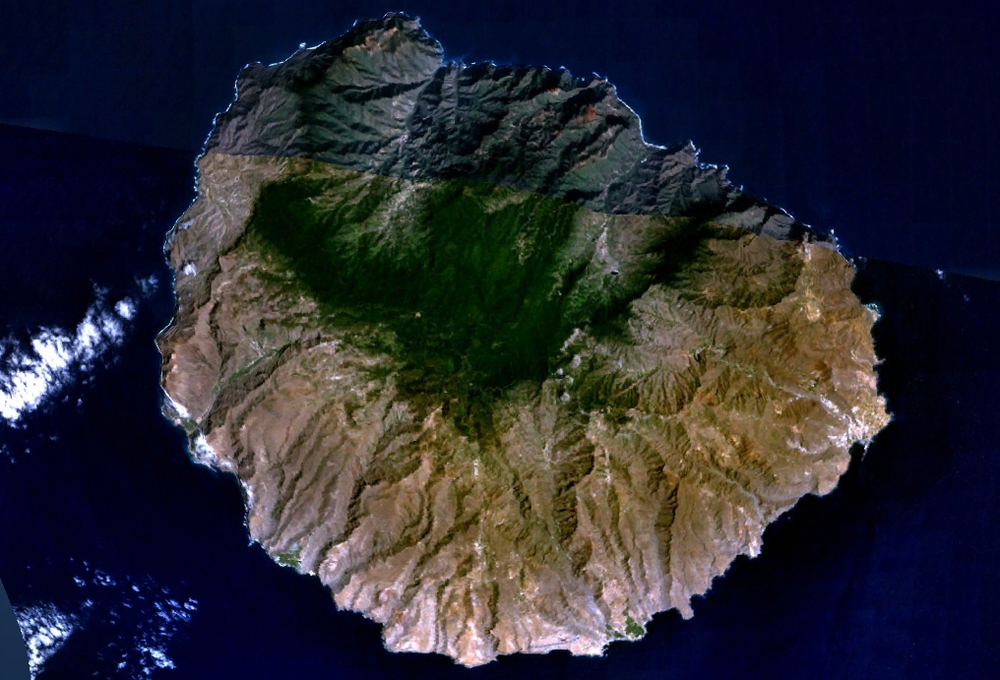 canary islands-la gomera-aerial photograph-laurisilva-ecotone