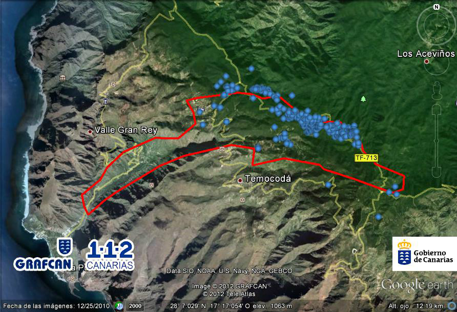 Path of the 2012 fire