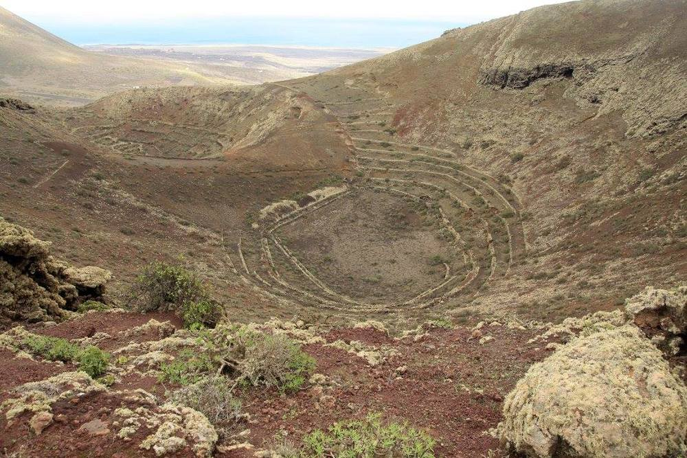 Volcanic craters with terracing (my photo)