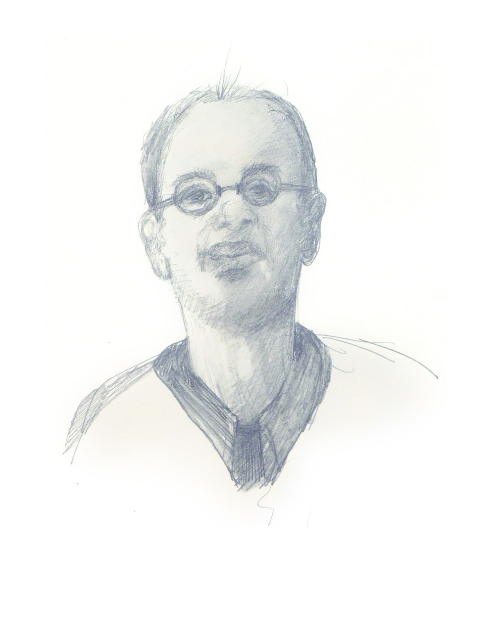 Balding Man With Glasses