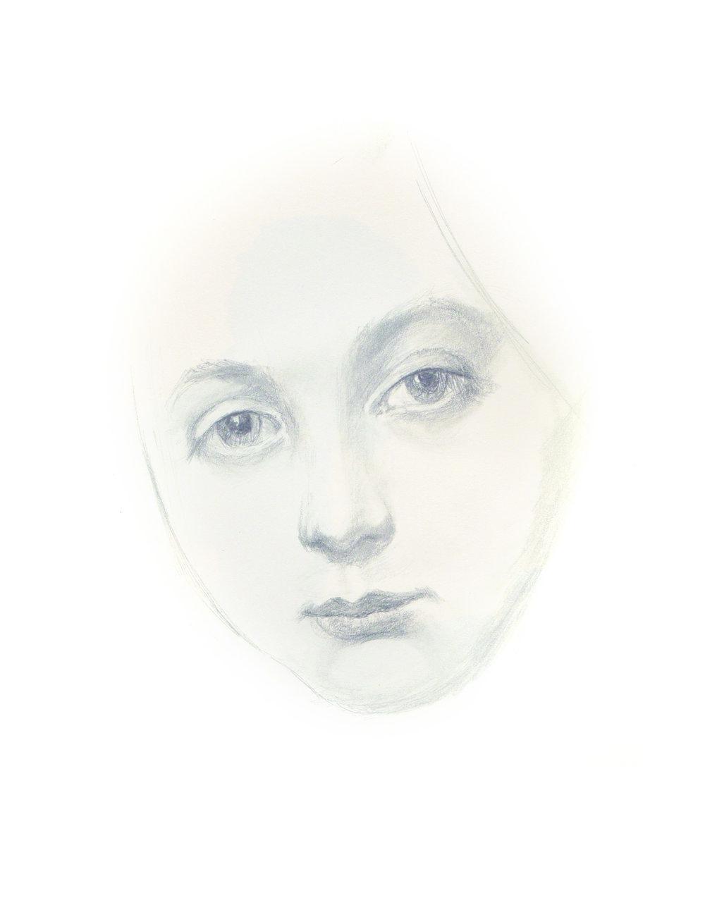 Partial Portrait - Jean Auguste Dominque Ingres