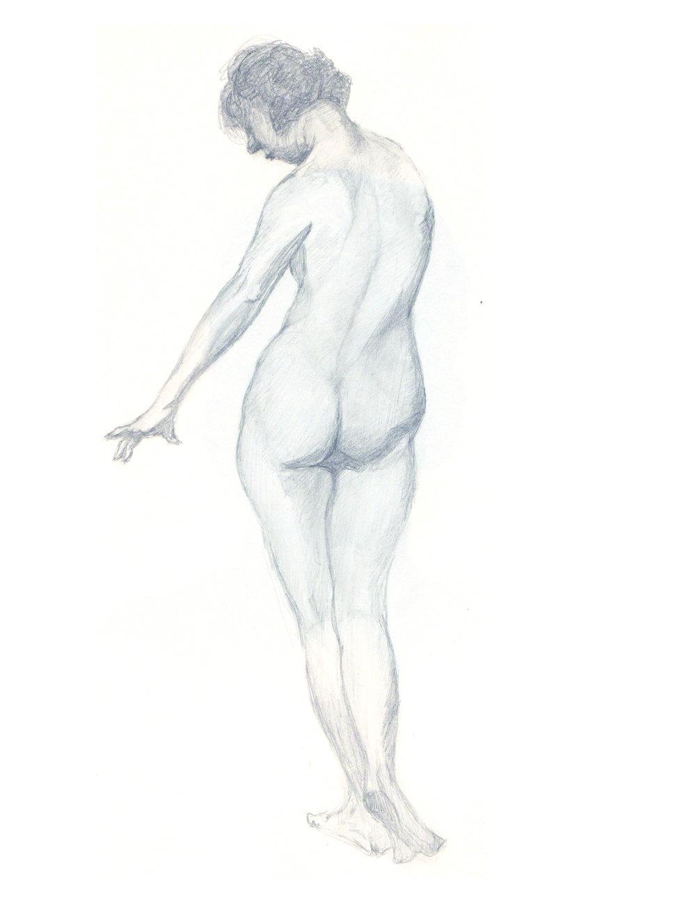 Standing Nude Bent Leg