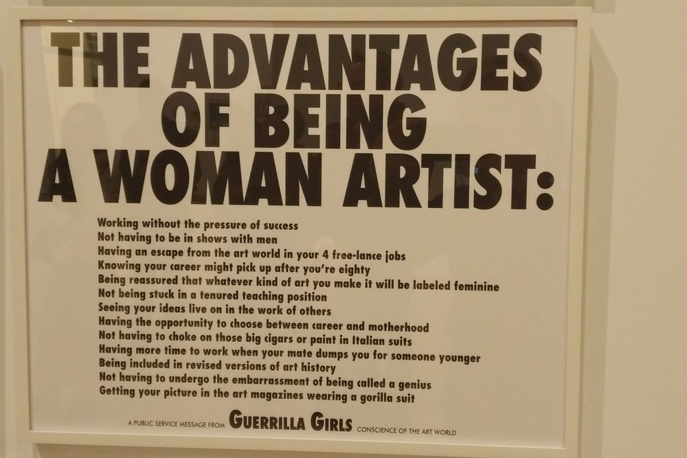 Satire is an important component of the protest toolkit and one the Guerrilla Girls have clearly mastered!