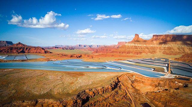 #moab #ut #aerialphotography #skycraft #djiglobal #djicreator #potash #instatravel