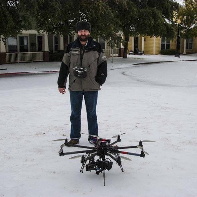 #tbt #skycraft #2013 #snowday #fortworth #tx #freeflysystems #cinestar8 #mikrokopter
