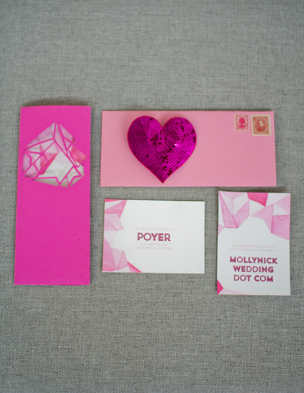 Hot Pink Wedding Invitation Suite